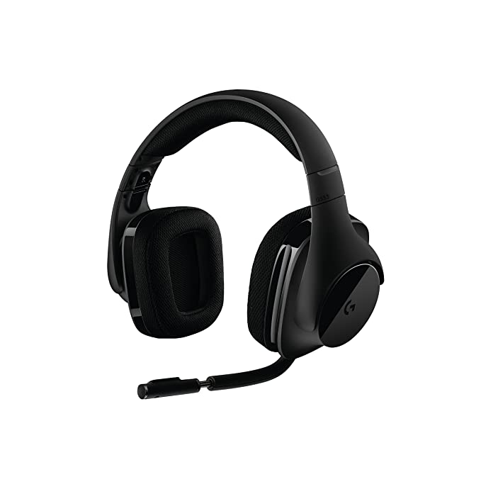 Logitech G533 Binaural Diadema Negro Auricular con micrófono - Auriculares con micrófono (PC/Juegos, 7.1 Canales, Binaural, Diadema, Negro, ...