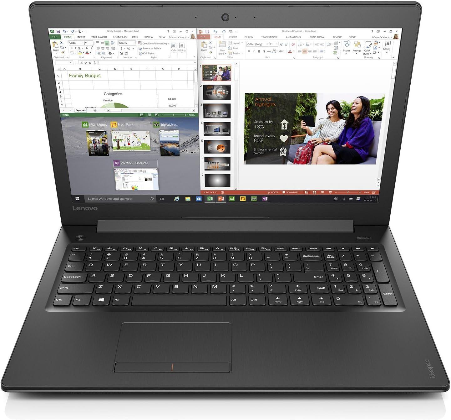 "Lenovo Ideapad 310 - 15.6"" HD Display Laptop with 3x Faster WiFi (Intel Core i5-6200U, 8 GB RAM, 1TB HDD, Windows 10) 80SM0058US"