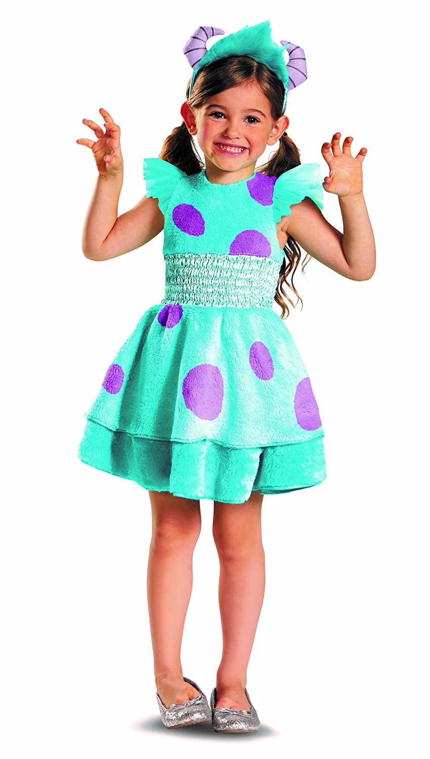 amazoncom disguise disney pixar monsters university sulley girls deluxe costume 3t 4t toys games - Sully Halloween Costumes Monsters Inc