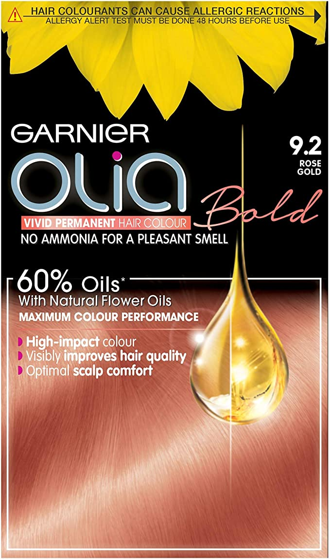 Garnier Olia Bold 9.2 Rose Gold Permanent Hair Dye