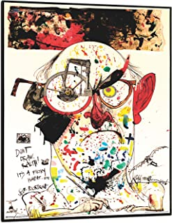 product image for Frame USA Ralph Steadman - Self Poortrait Poster (Black Wood Mount Plaque)(24x34)