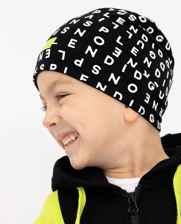 GULLIVER Cappello per Ragazzi Bambino Marrone Nero di Cotone Berretti e Cappellini Primavera