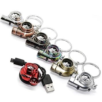 Reklame & Werbung für Sammler Turbolader Turbo Schlüsselanhänger mit drehendem Verdichterrad & LED Licht