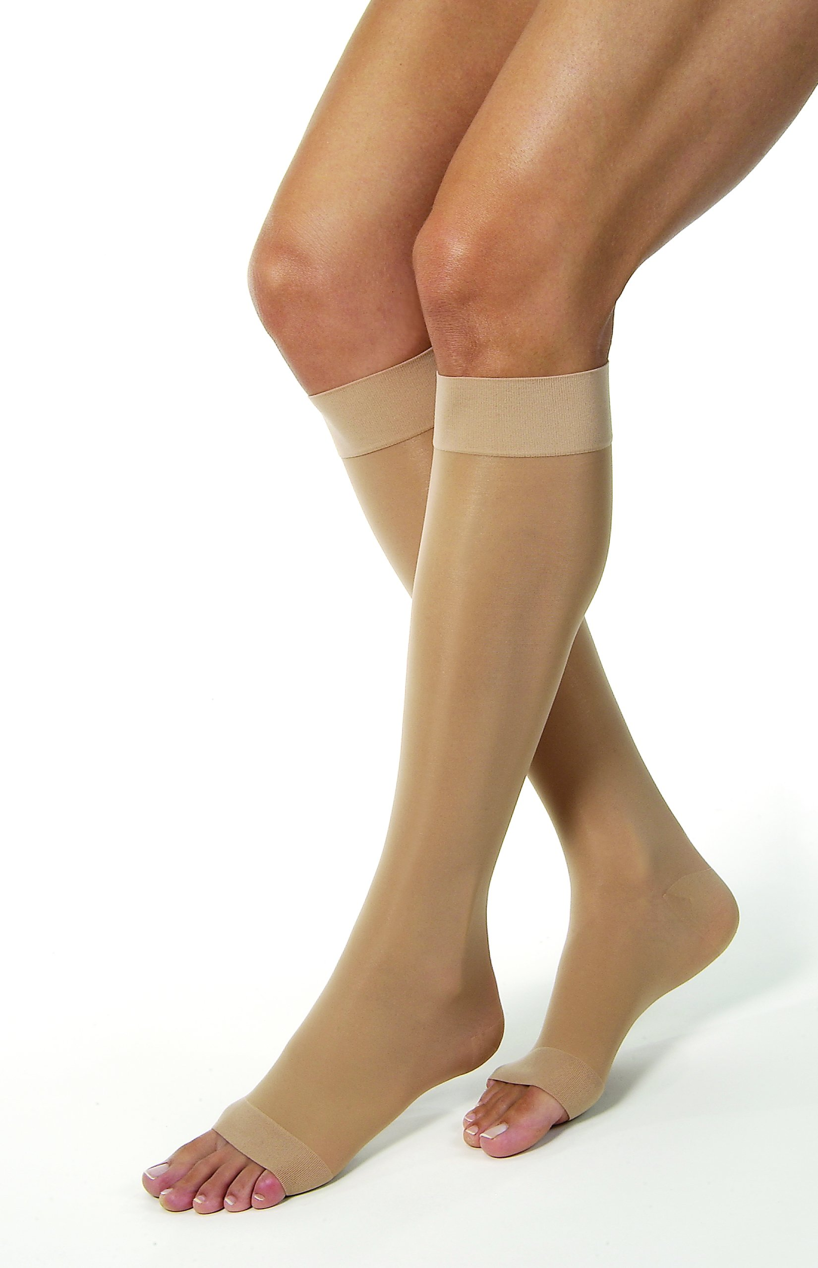 BSN Medical 119505 Jobst Compression Stocking, Knee High, Open Toe, 15-20 mmHG, X-Large, Natural