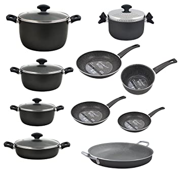 San Ignacio colección Gourmet-Set ollas-Sartenes 20/24/28 Cacerolas 20