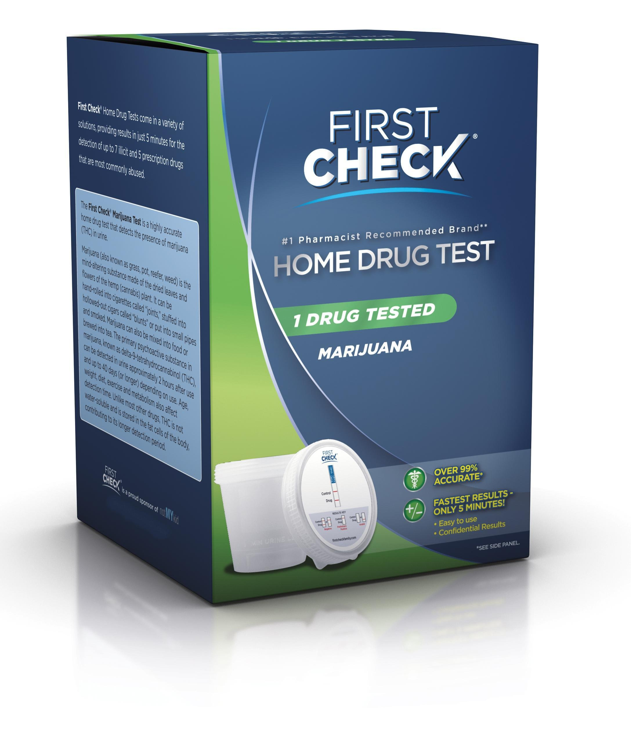 First Check home drug test kit by Marijuana, panel 1 - 1 Ea by FIRST CHECK by First Check