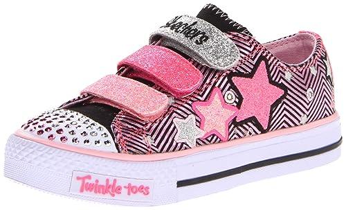 Skechers Shuffles Triple Up - Zapatillas de lona para niña: Amazon.es: Zapatos y complementos