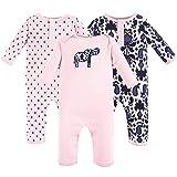 Yoga Sprout Baby Cotton Union Suit, Ikat Elephant