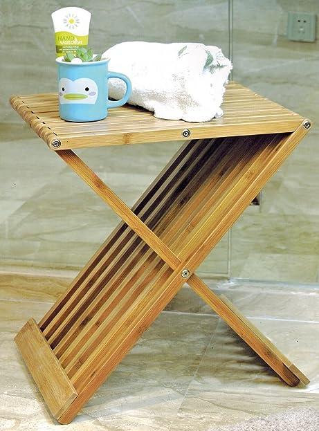 Klappstuhl design  Design Bambus Klapphocker - Holz Hocker Klappstuhl Stuhl ...
