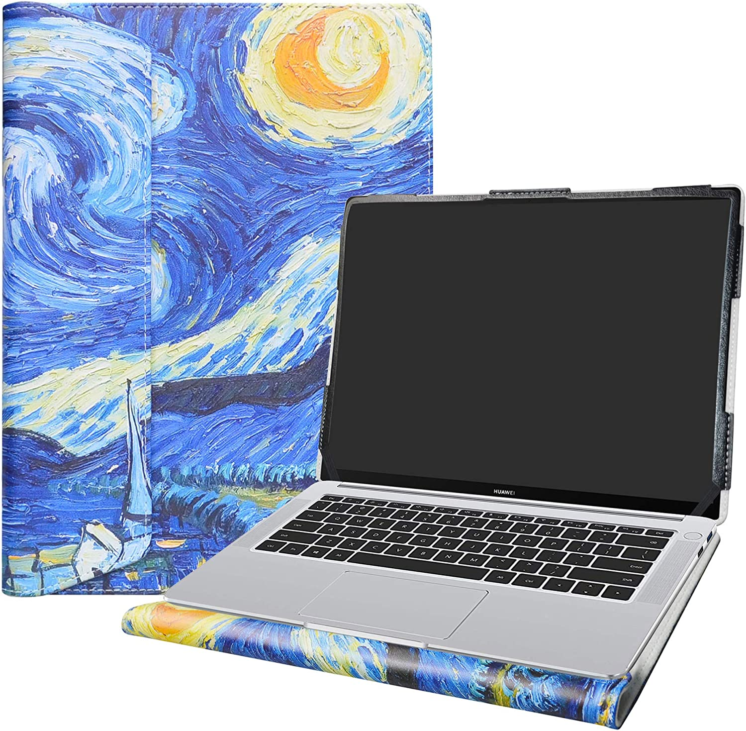 """Alapmk Protective Case Cover for 14"""" HP ProBook x360 435 G7 & Huawei Matebook 14 2019/Huawei Matebook 14 2020 Laptop(Not fit Matebook X/Matebook D/Matebook X Pro/Matebook 13),Starry Night"""
