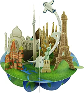 Santoro Pirouettes Travel the World 3D Pop up Card