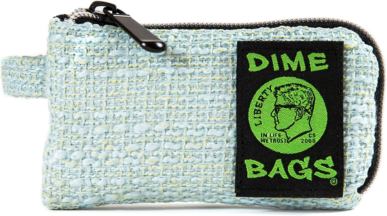 Dime Bags Padded Pouch with Soft Padded Interior   Protective Hemp Pouch for Glass with Interior Smell Proof Pocket (Blue, 5-Inch)
