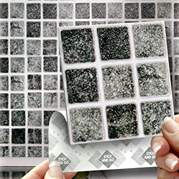 18 GRANITE MOSAIC EFFECT WALL TILES   2mm Thick and solid Self Adhesive  Stick on Wall. 18 GRANITE MOSAIC EFFECT WALL TILES   2mm Thick and solid Self