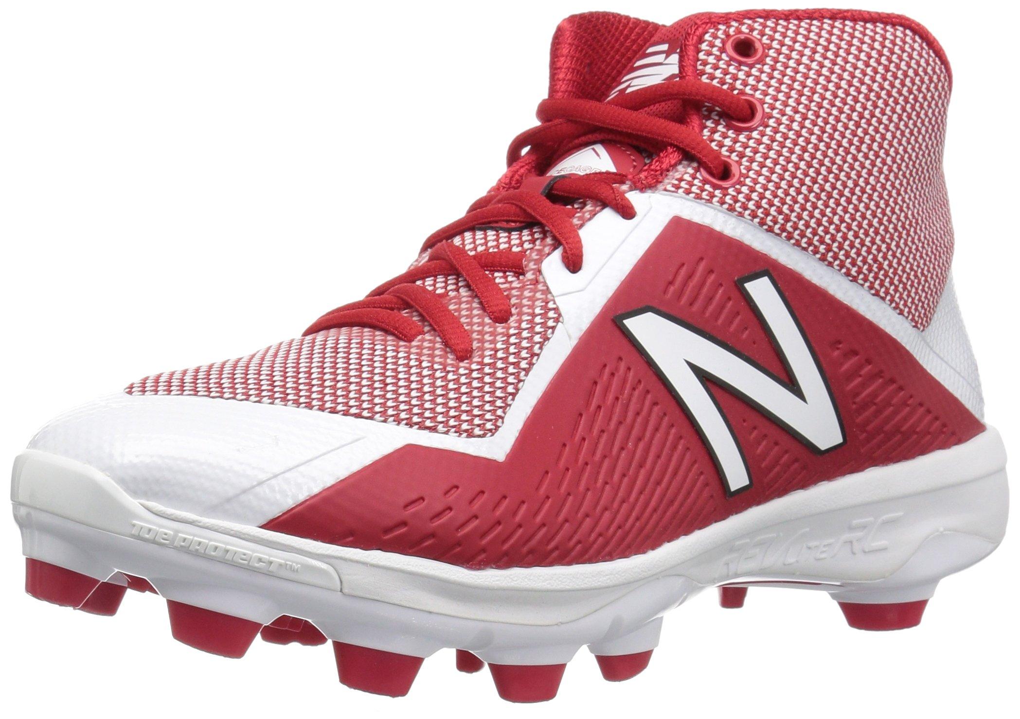 New Balance Men's PM4040v4 Molded Baseball Shoe, Red/White, 5.5 2E US by New Balance