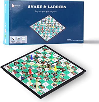 KingMade Juego de escaleras y Serpientes magnéticas Mart NS: Juego de Mesa portátil y Divertido para Todas Las Edades (10 Pulgadas): Amazon.es: Juguetes y juegos