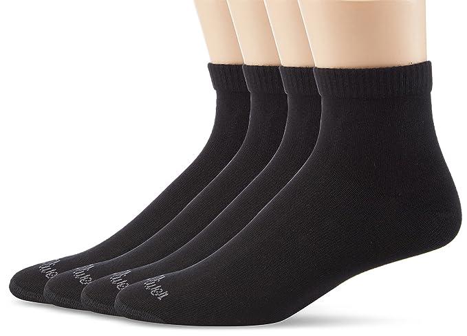 Oliver Socks s21007 - Calcetines cortos para hombre, paquete de 4, Black