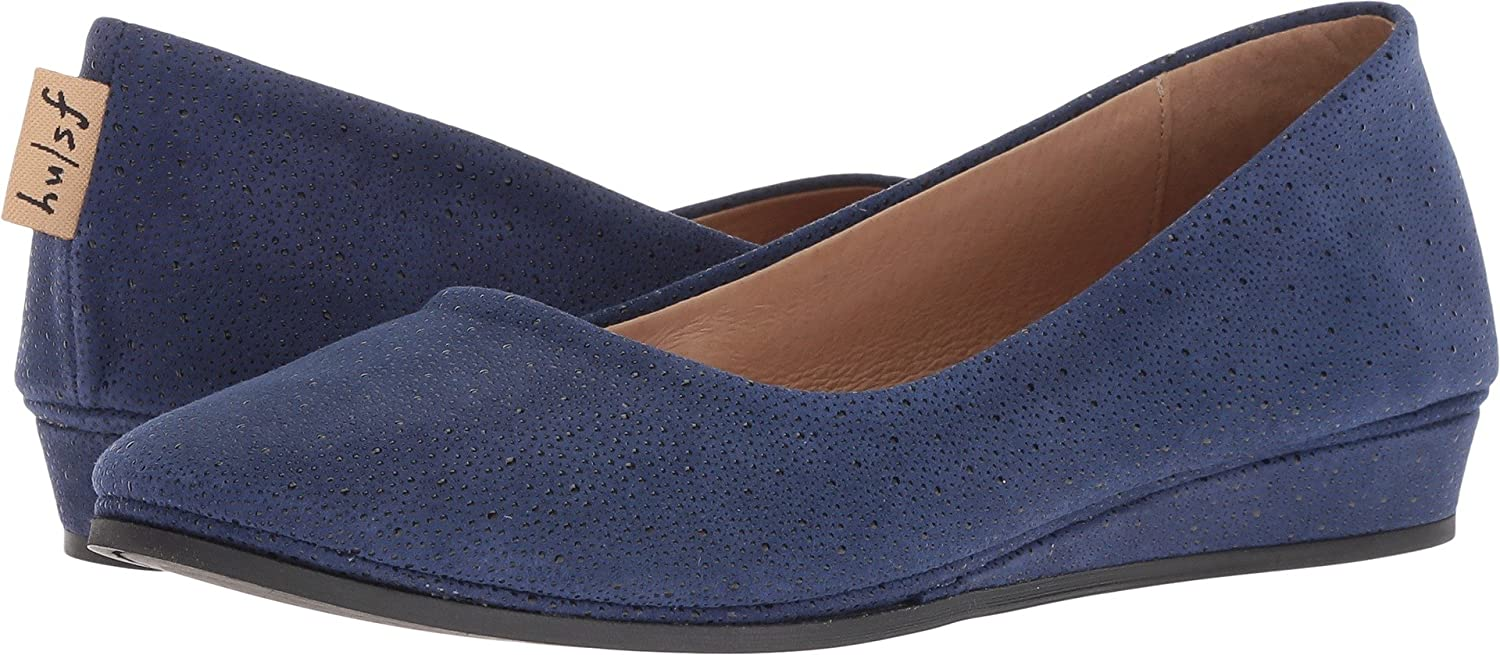 French Sole Women's Zeppa Slip on Shoes B07BW9LGDJ 9.5 B(M) US|Blue Stingray