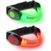 AccuBuddy Braccialetto a LED – 1x Braccialetto Luminosi per la Corsa e Come Luce di Sicurezza per Tutti i Tipi di Sport all'aperto
