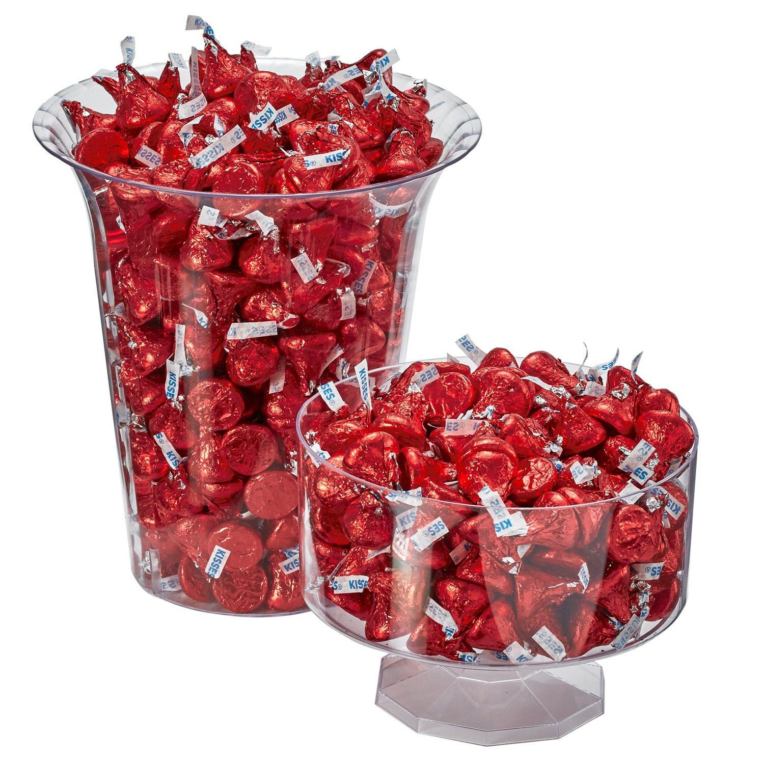HERSHEY'S KISSES Chocolate Candy, Red Foils, 4.1lb Bulk Candy, approx. 400 Pieces. Perfect for Graduation and 4th of July Decorations by Kisses (Image #5)