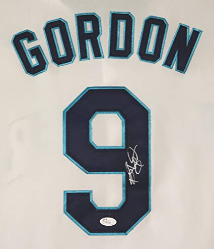 new styles 37187 f62f5 Dee Gordon Seattle Mariners Signed Autographed White #9 ...