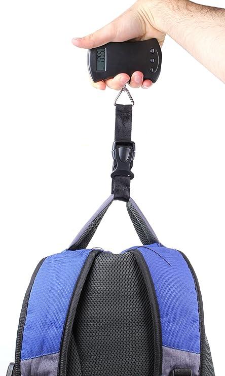 DURAGADGET Balanza/báscula Digital portátil con Capacidad de 40 kg para Pesar Redes de heno