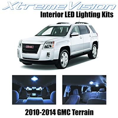 XtremeVision Interior LED for GMC Terrain 2010-2014 (5 Pieces) Cool White Interior LED Kit + Installation Tool: Automotive
