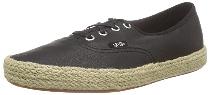 Vans Unisex-Erwachsene Authentic Espadrille Low-top Schwarz (Leather/Black)