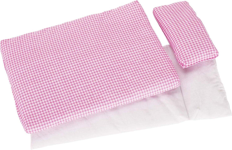 Taie dOreiller Parure de lit Rose pour poup/ée Lit avec couette