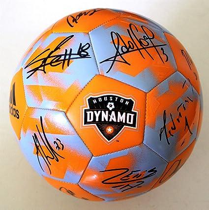 huge discount 19c47 4c5b8 2018 Houston Dynamo Team Signed Soccer Ball W/COA Orange MLS ...