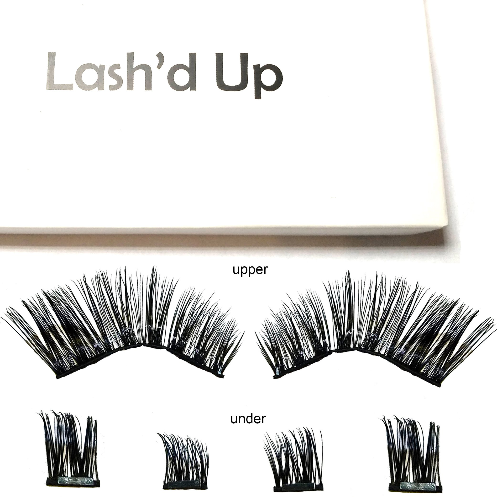 Lash'd Up Dramatic Magnetic Eyelashes Full Eyes Premium Grade Silk Bold Glam [No Glue] Child Cancer Partner Better Than 3 Magnets Reusable False Lashes | Undress me