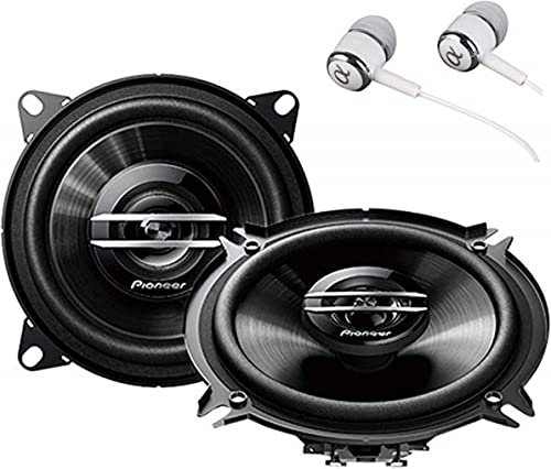 Coaxial Full Range Car Audio Stereo Speakers with ALPHASONIK Earbuds