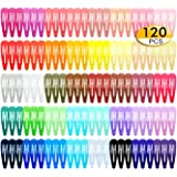 120 Pack 40 Colors 2 Inch Snap Hair Clips Hair Barrettes Solid Candy Color Snap Barrettes for Girls Kids Women