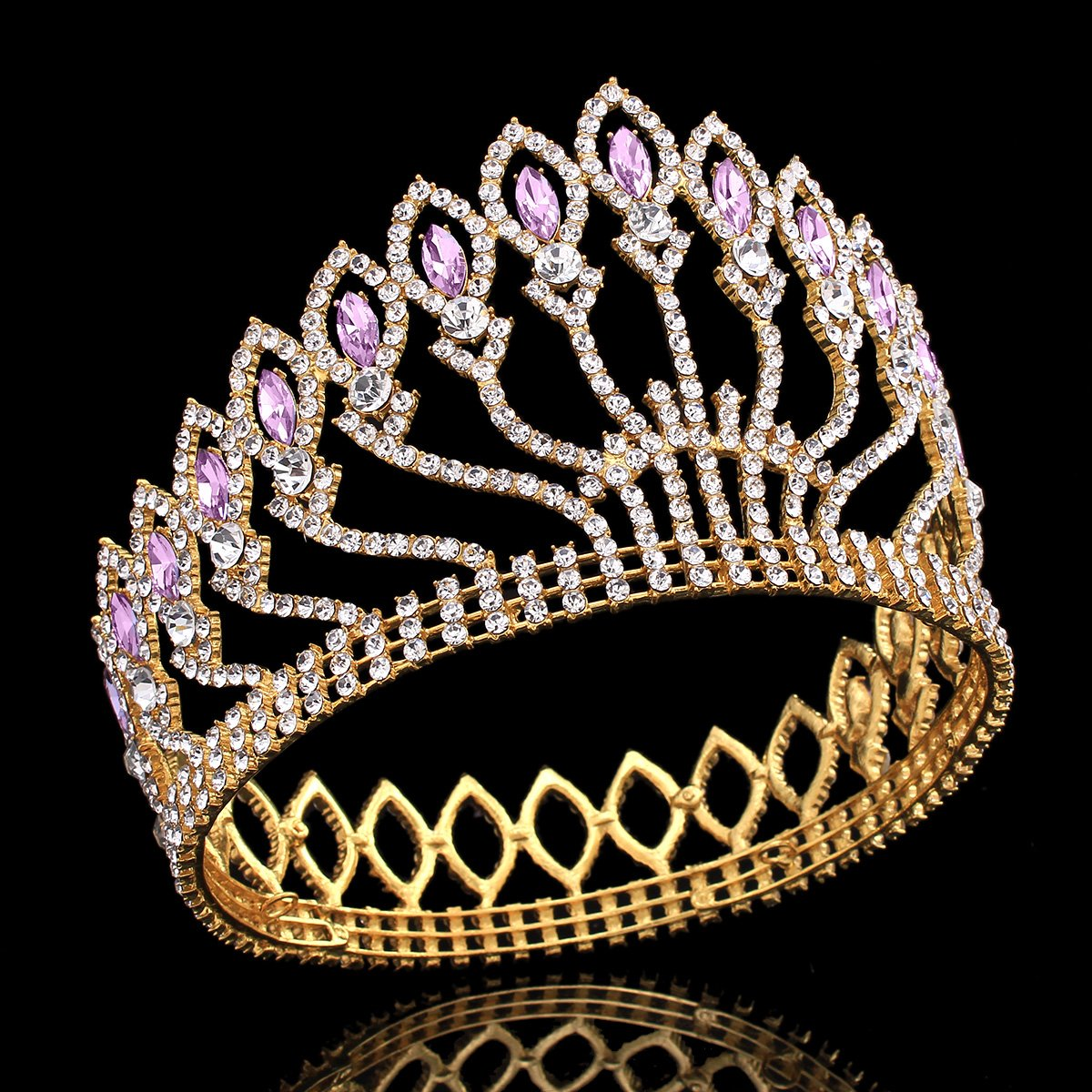 Stuffwholesale Marquise Crystal Crown Women Girl Queen Tiara Banquet Party Headwear