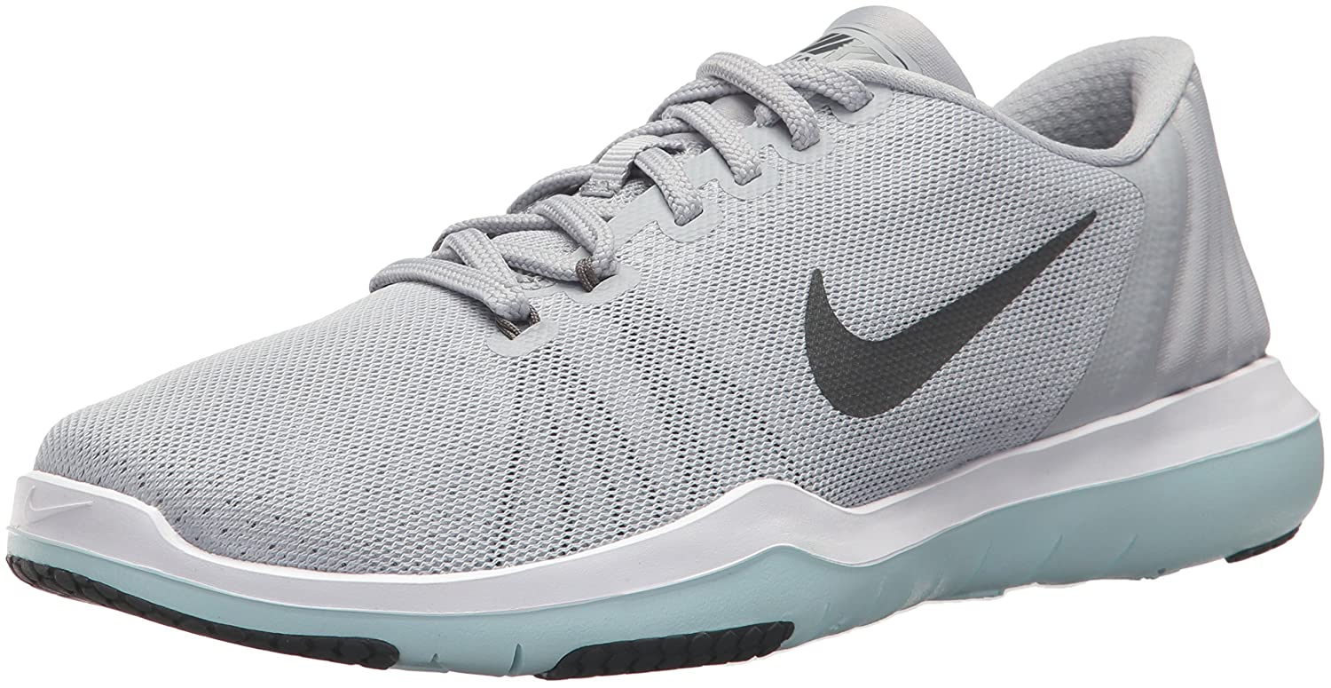 NIKE Women's Flex Supreme TR 5 Cross Training Shoe B01MY0NIKP 8 B(M) US|Wolf Grey/Dark Grey/White/Glacier Blue