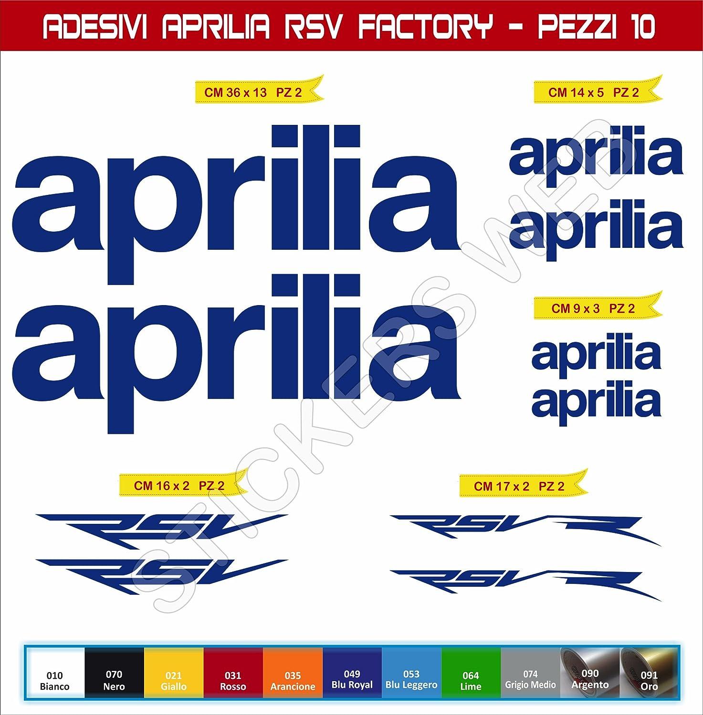 Motocicletas para Motos Cod.0552 Pimastickerslab Pegatinas Adhesivos Aprilia RSV Factory