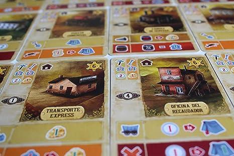 TCG Factory COLOMA Juego de mesa en español para 2 a 4 jugadores; para adultos a partir de 14 años de edad. Viaja al salvaje Oeste americano con este eurogame: Amazon.es: Juguetes