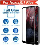 Knotyy Edge to Edge 6D Curved Full Tempered Glass for Nokia 6.1 Plus (Black)