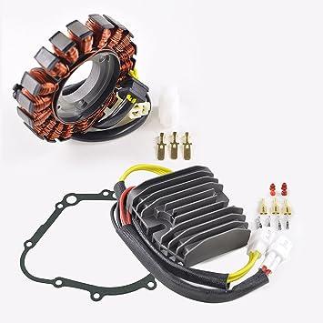 Kit Improved Heavy Duty Stator + Mosfet Voltage Regulator Rectifier +  Gasket Fits Suzuki GSX-R 600 GSXR 750 2006-2017