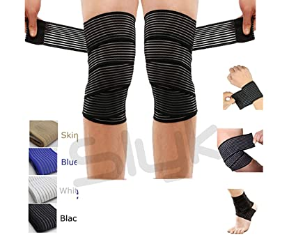 Buy Slyk Elastic Knee Compression Bandage Wraps Support For Legs