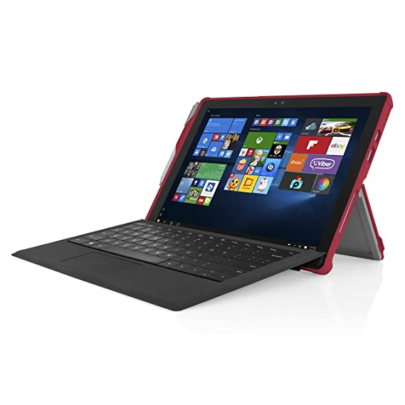 Microsoft Surface Pro 4 Case, Incipio [Ultra Thin] [Snap On Case] Feather [Hybrid] Case for Microsoft Surface Pro 4-Red