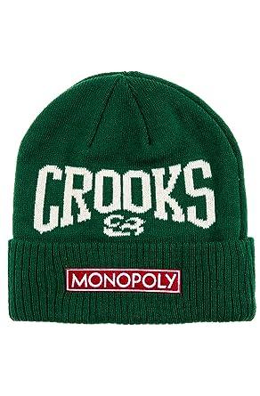 2e4568674d0 Crooks   Castles Womens X Monopoly Knit Beanie Hat - Green -  Amazon ...