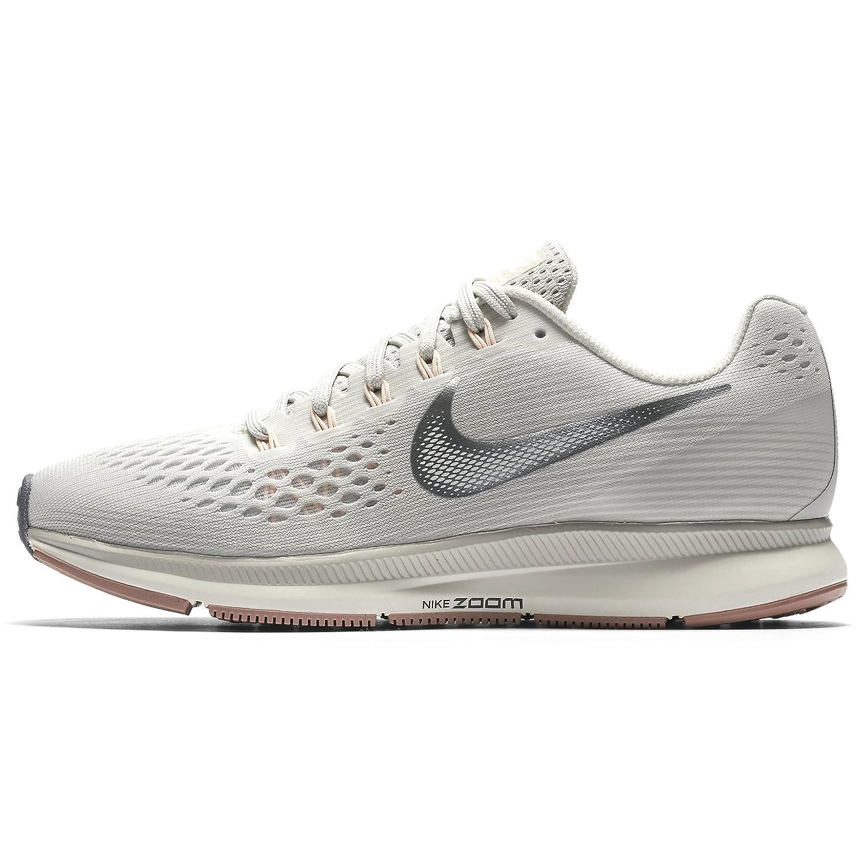 promo code 9c3e0 df235 Amazon.com   NIKE WMNS Air Zoom Pegasus 34 880560-004 Light  Bone Chrome Pale Grey Women s Running Shoes (8)   Road Running