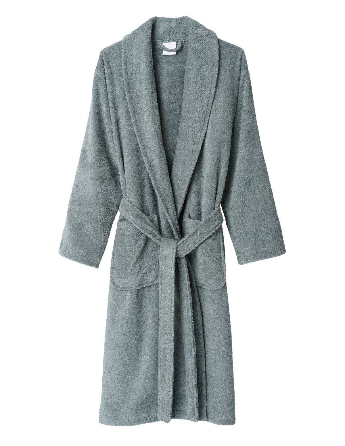 TowelSelections Women's Robe, Turkish Cotton Terry Shawl Bathrobe Small/Medium Quarry