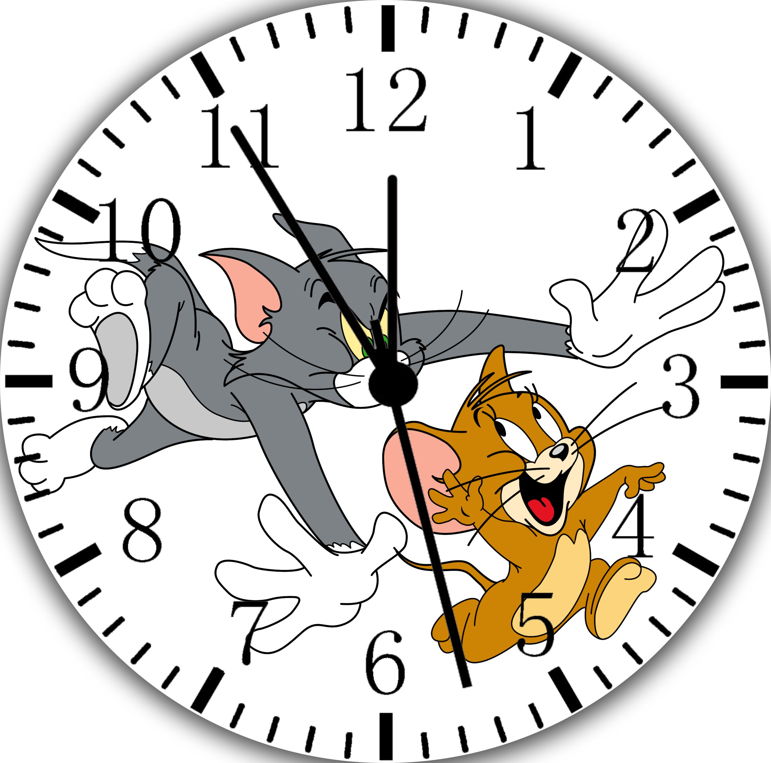 Tom and Jerry Frameless Borderless Wall Clock F58 Nice For Gift or Room Wall Decor