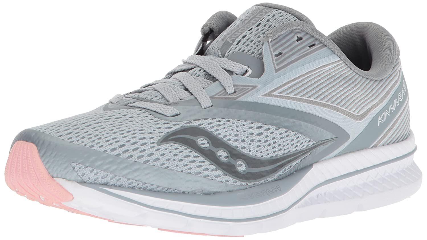 Saucony Women's Kinvara 9 Running Shoe B072JTVBN3 6 B(M) US|Grey/White