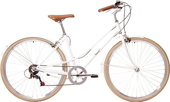 Kamikaze Kawaii Bicicleta híbrida Paseo 7 velocidades Blanca ...