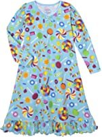 Sara's Prints Girls' Whirl and Twirl Long Sleeve Nightgown