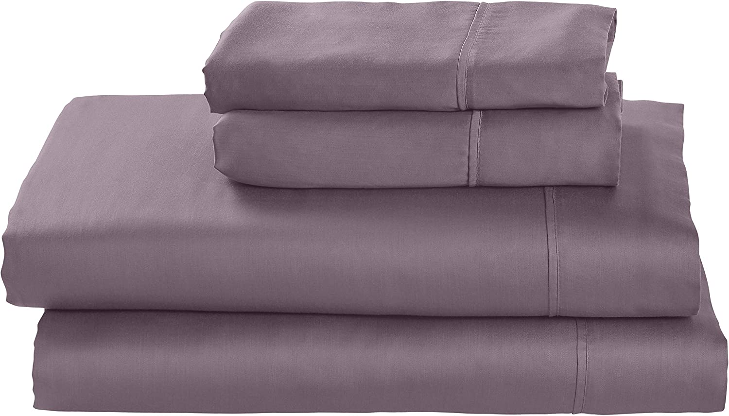 Amazon Brand – Stone & Beam Wrinkle-Resitant 100% Tencel Bed Sheet Set, Queen, Mulberry