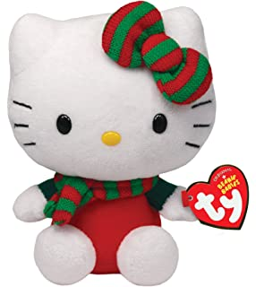 Ty Beanie Babies Hello Kitty - Red Christmas Outfit