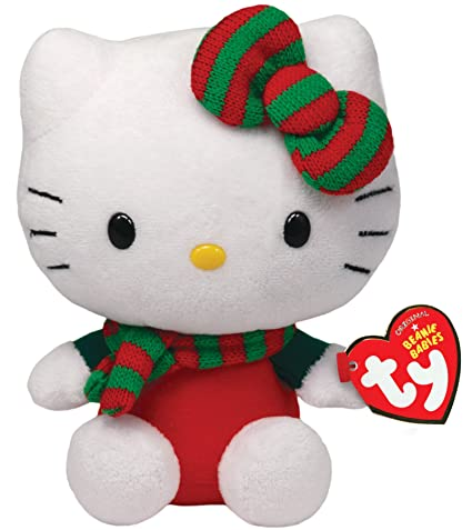 Hello Kitty Christmas.Ty Beanie Babies Hello Kitty Red Christmas Outfit